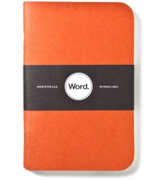 Word. Orange Camo 3 Pack Notebook Picture