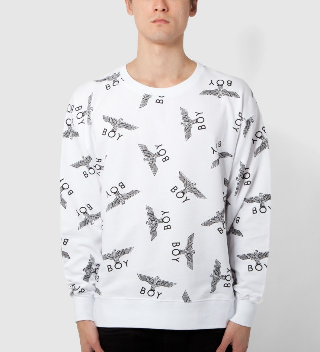 White/Black Boy Repeat Sweater