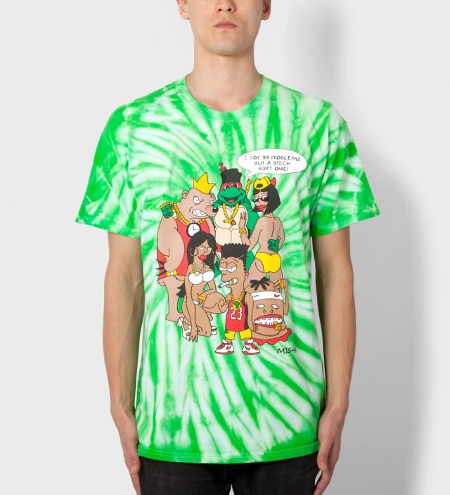 Green Tie-dye 99 Problemz (Archive) T-Shirt
