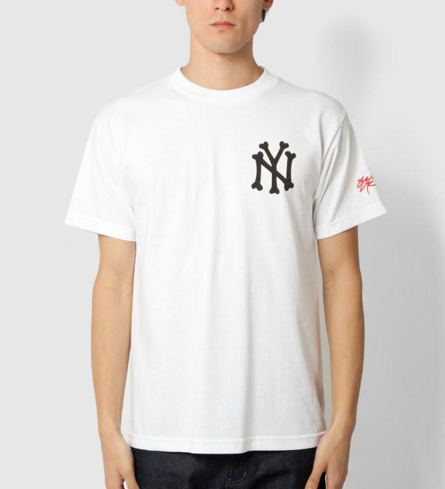 White NY Bones T-Shirt