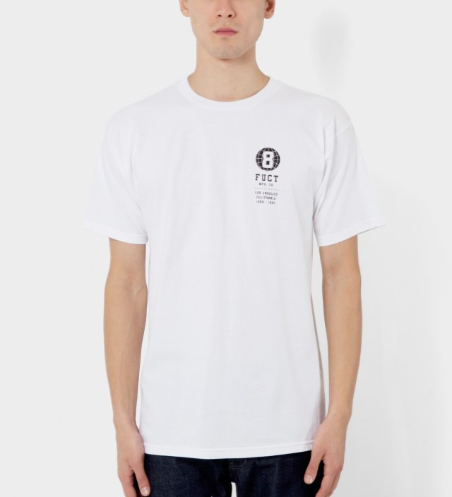 White 8 Ball World T-Shirt