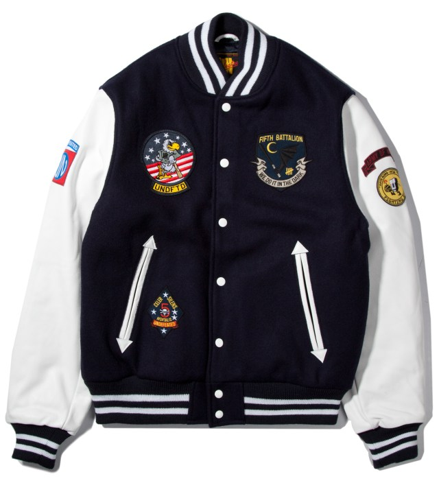 Navy UNDFTD Strike Team Varsity Jacket