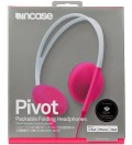 Flint Stone/Pop Pink Pivot Packable Folding Headphones