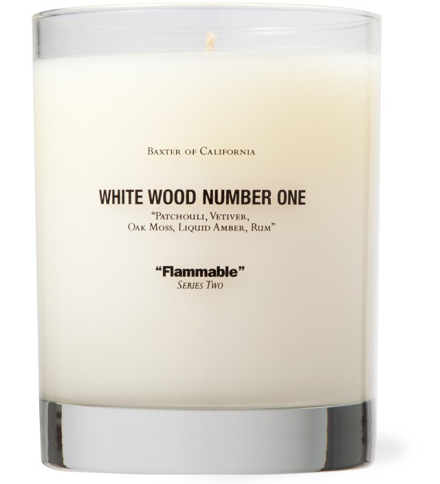 White Wood Number One Candle