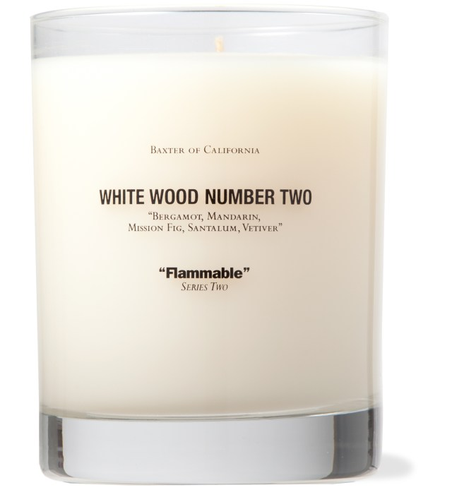 White Wood Number Two Candle
