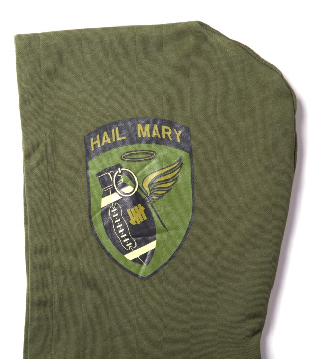 Olive Hail Mary Zip Hoodie