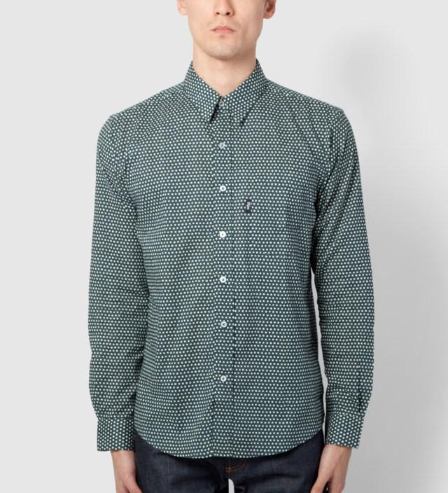 Teal Uneven Dots Cinema Shirt