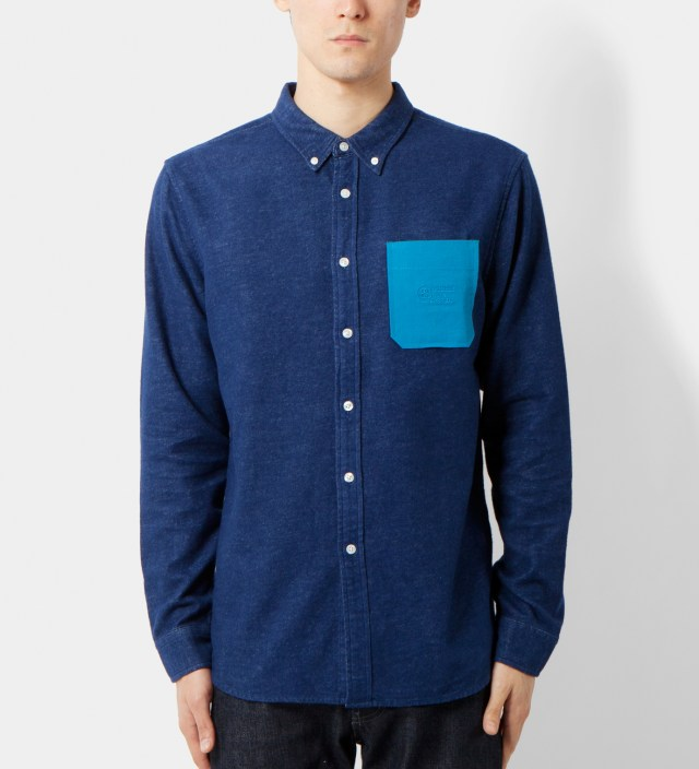 Navy Solid Flannel Shirt