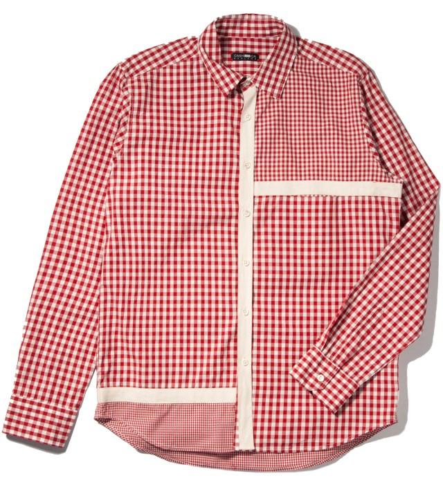 Red Gingham Mondrain Shirt