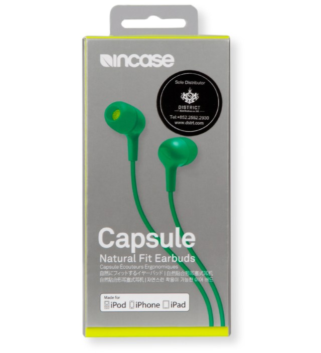 Apple Green/Electric Lime Capsule Natural Fit Earbuds