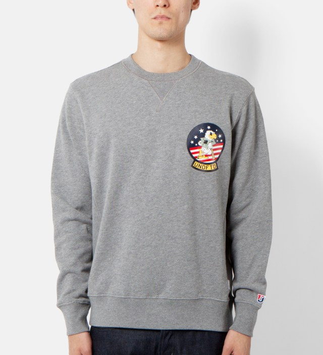 Heather Grey Eagle Crewneck