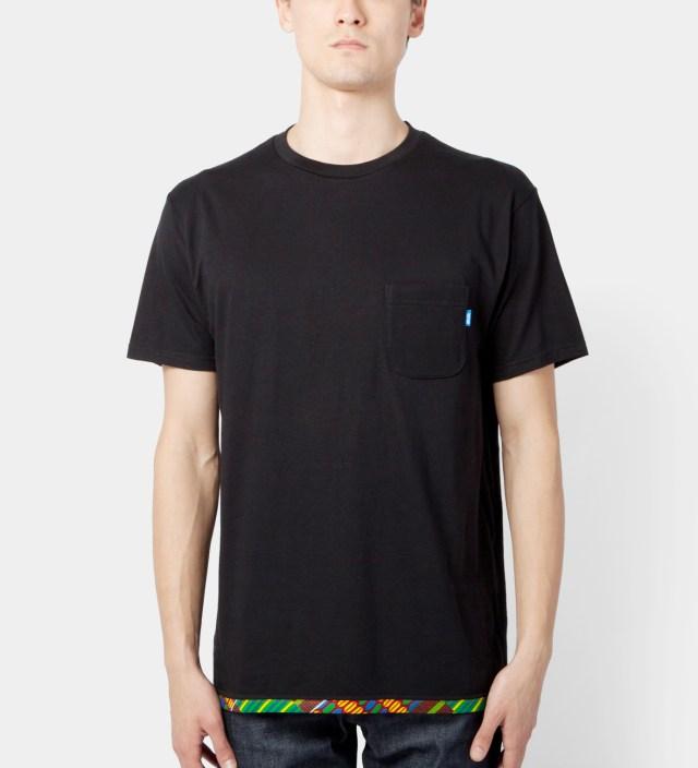 Black Hem Trim African Waxed T-Shirt