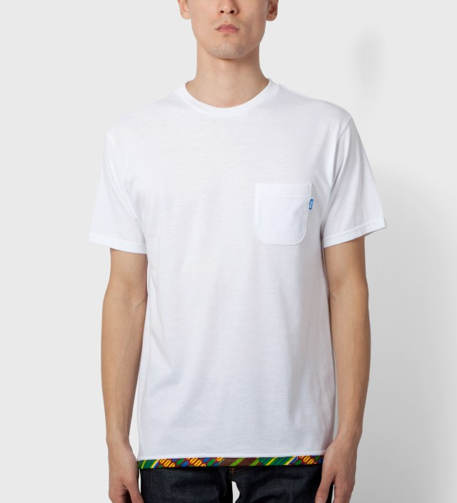 White Hem Trim African Waxed T-Shirt