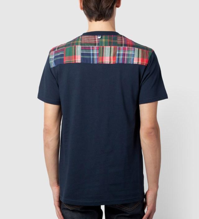 Navy New Yoke Green Patchwork T-Shirt