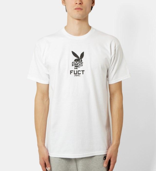White 8 Bit Death Bunny T-Shirt