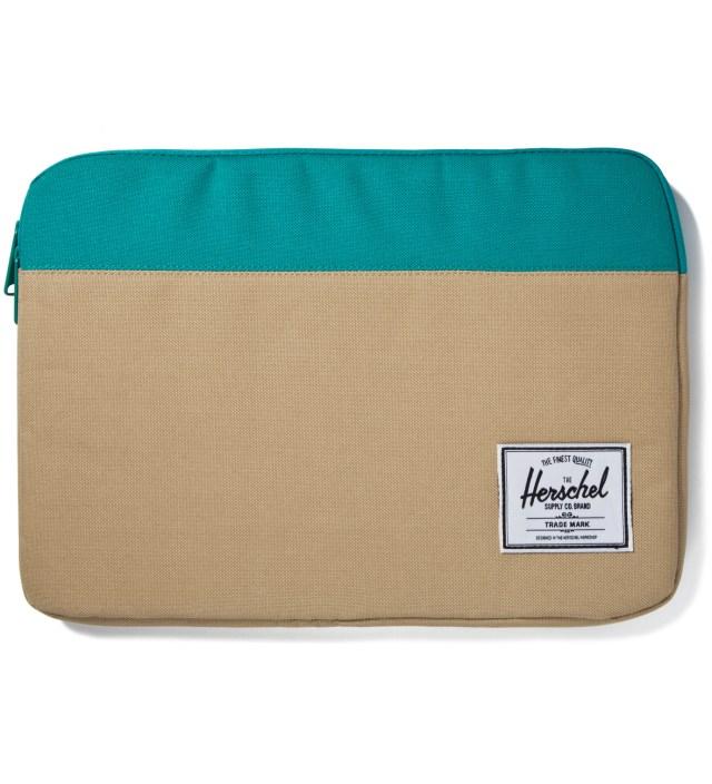 "Khaki/Teal Anchor Sleeve for 13"" Macbook Pro"