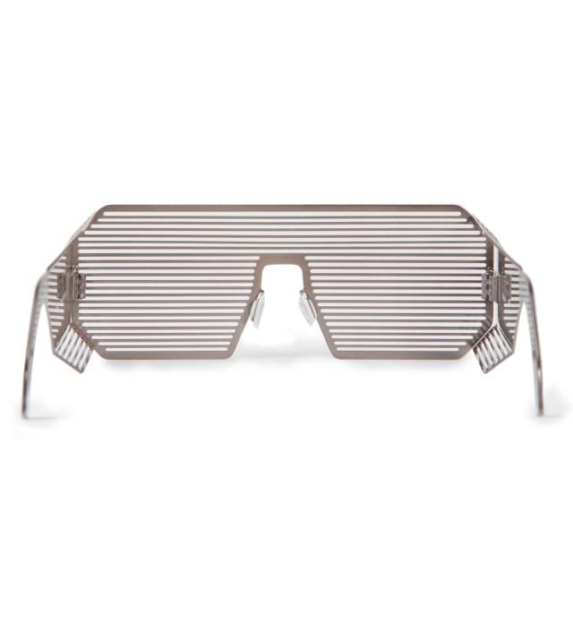 Boris Bidjan Saberi x Linda Farrow Matt Silver and Stainless Steel Sunglass