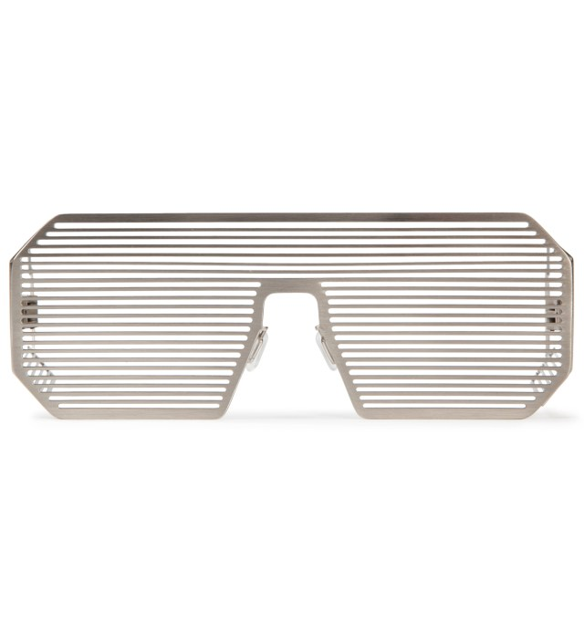 Boris Bidjan Saberi x Linda Farrow Oxidised Matt Silver and Stainless Steel Sunglass