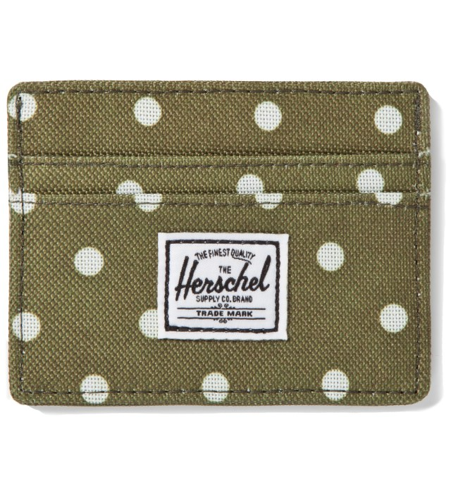 Olive Polka Dot Charlie Card Case
