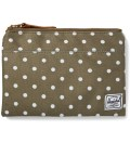 Olive Polka Dot Field Pouch Large