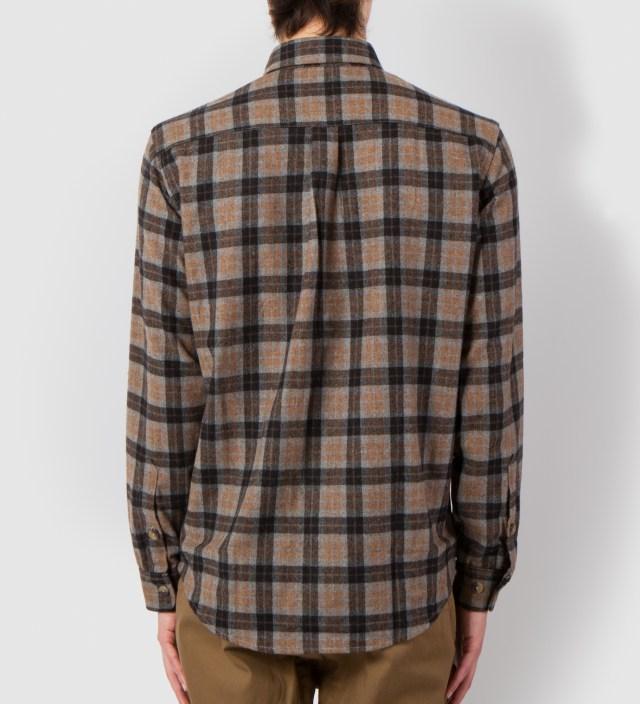 Grey/Mustard Fishkill Plaid Wool Shirt