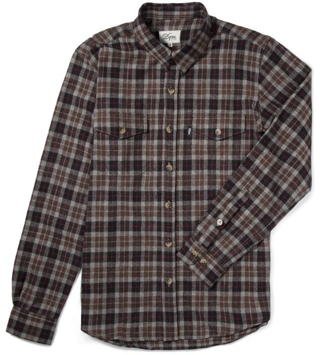 Brown/Black Fishkill Plaid Wool Shirt