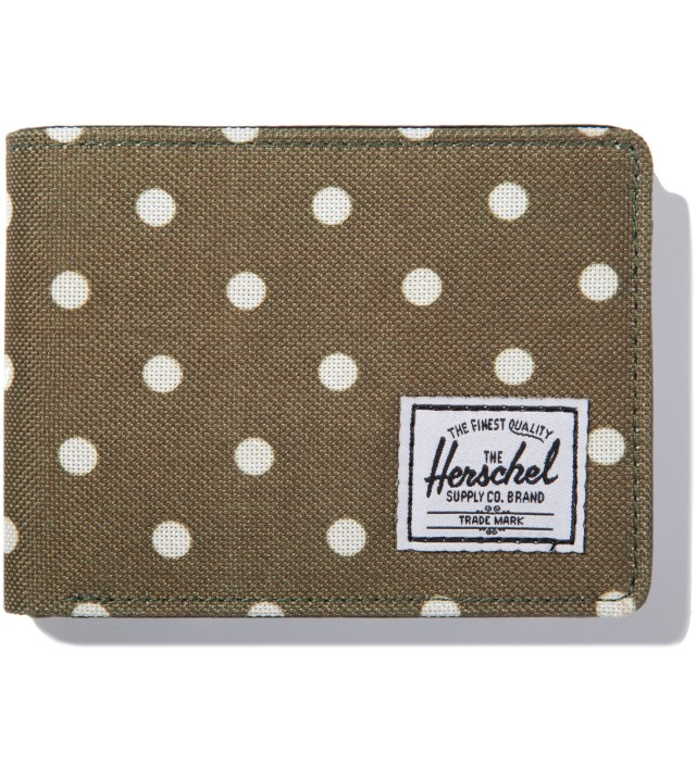 Olive Polka Dot Hank Wallet