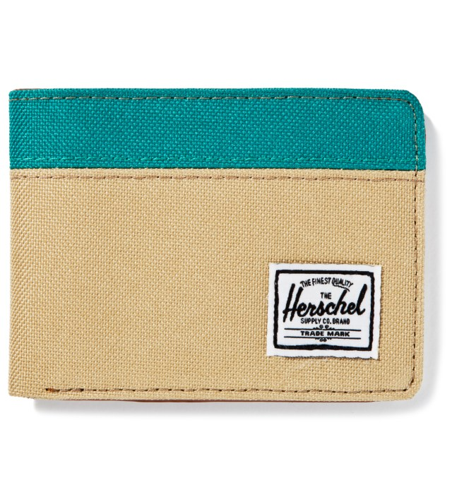 Khaki/Teal Hank Wallet
