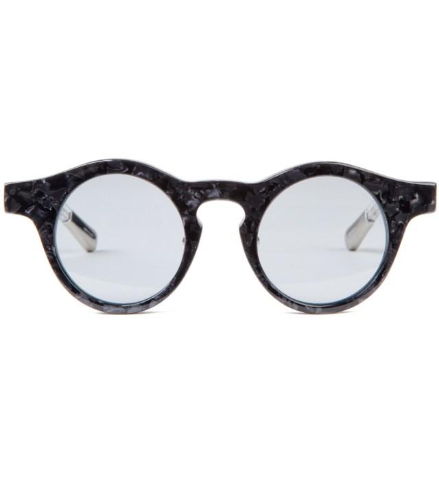 KRISVANASSCHE x Linda Farrow Grey Tortoiseshell Round No Flip Sunglass
