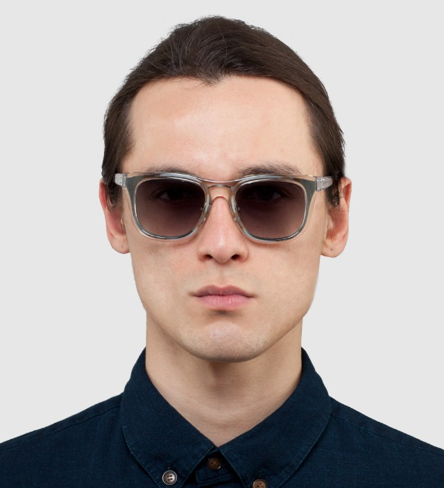 KRISVANASSCHE x Linda Farrow Clear With Metal Sunglass