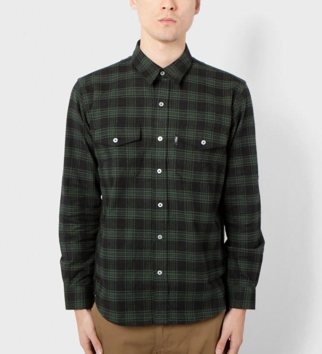 Black/Green Kodiak Cotton Flannel Shirt