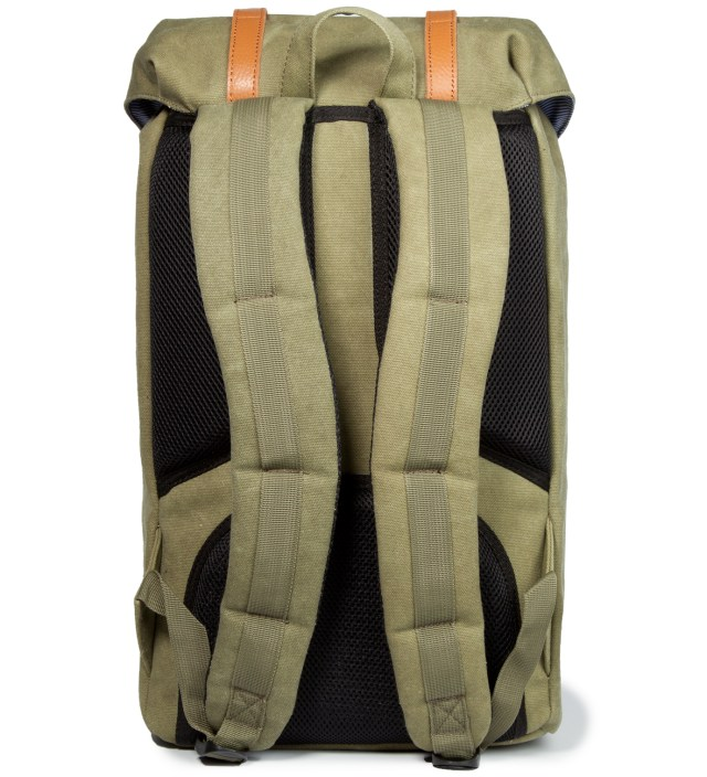 Washed Army Little America Canvas Backpack