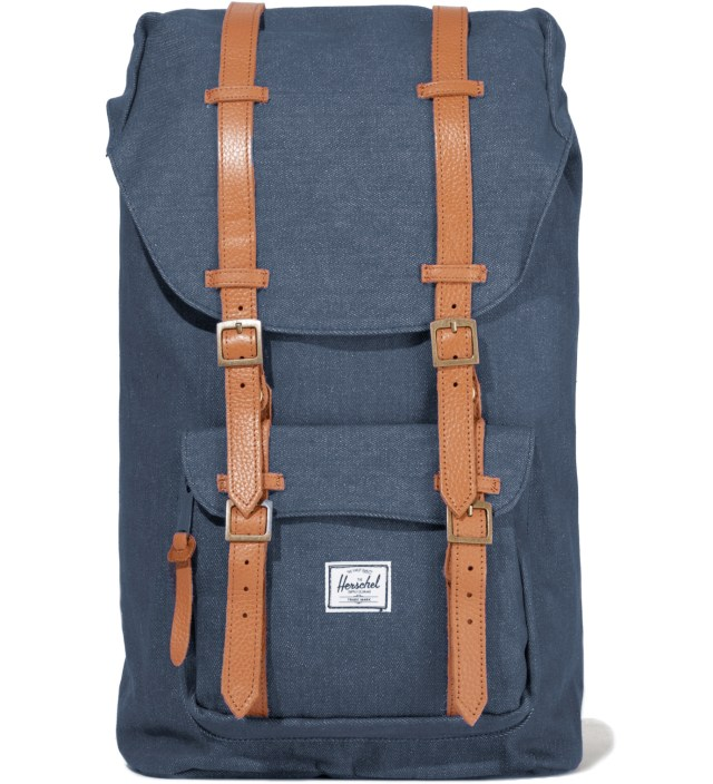 Washed Navy Little America Canvas Backpack