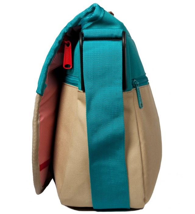 Khaki/Teal Mill Messenger Bag