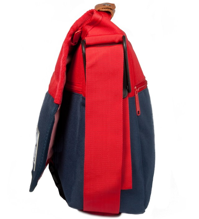 Red/Navy Mill Messenger Bag