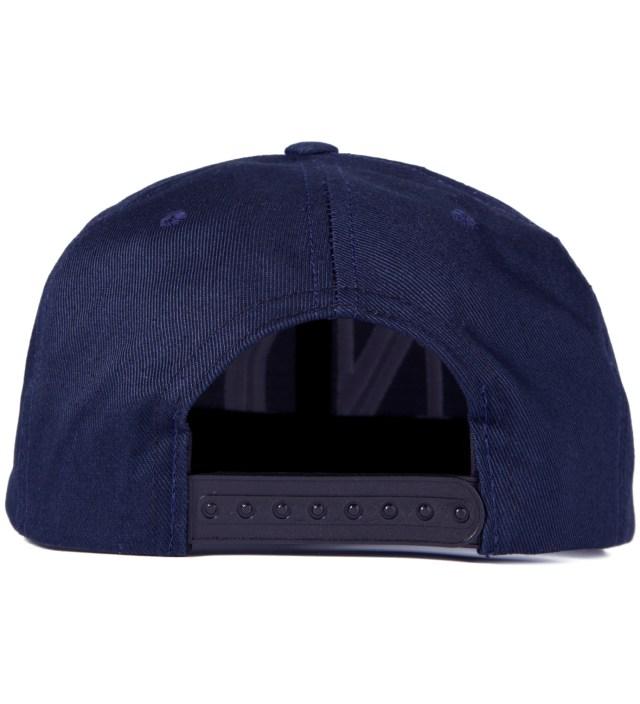 Navy Balmain NY Snapback Cap