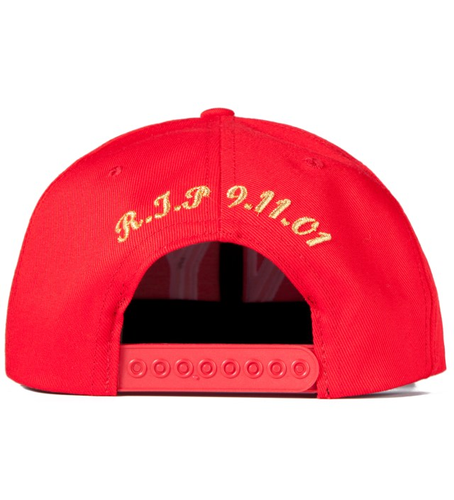Red 9/11 Balmain NY Snapback Cap