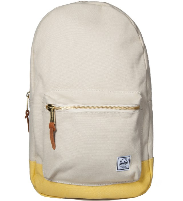 Natural/Washed Yellow Settlement Canvas Backpack