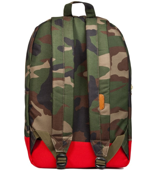 Woodland Camo/Navy/Red Settlement Backpack