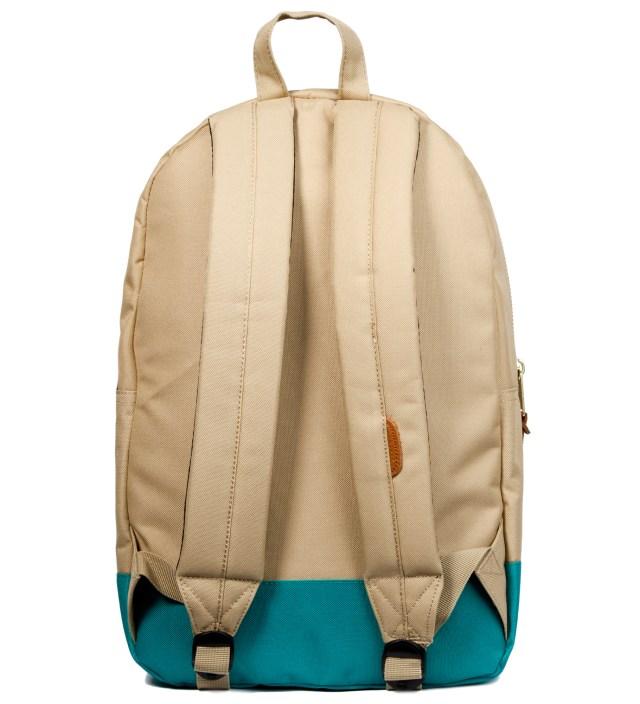 Khaki/Teal Settlement Backpack