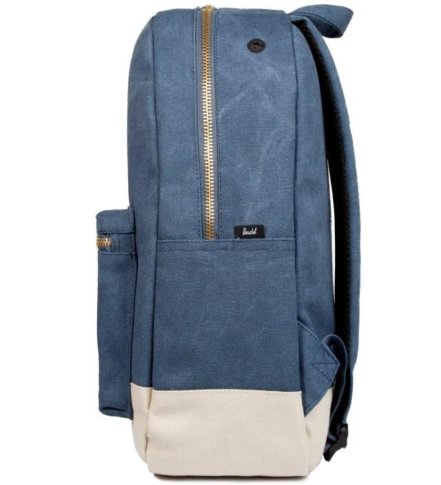 Washed Navy/Natural Settlement Canvas Backpack