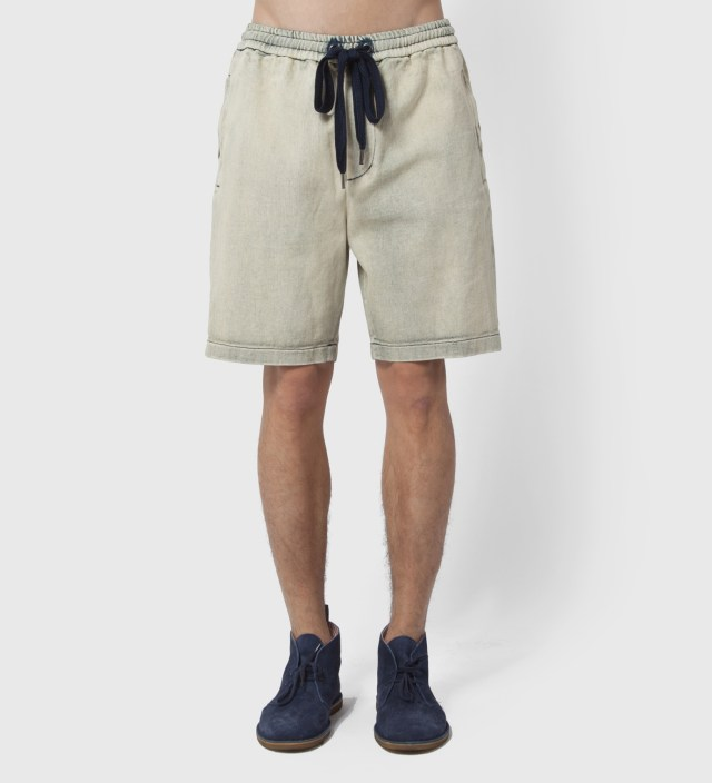 Light Indigo Boxing Short with Side Zipper Pocket