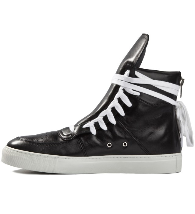 Black Sneakers with Lacing on Sides