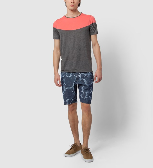 Charcoal Mint Open T-Shirt