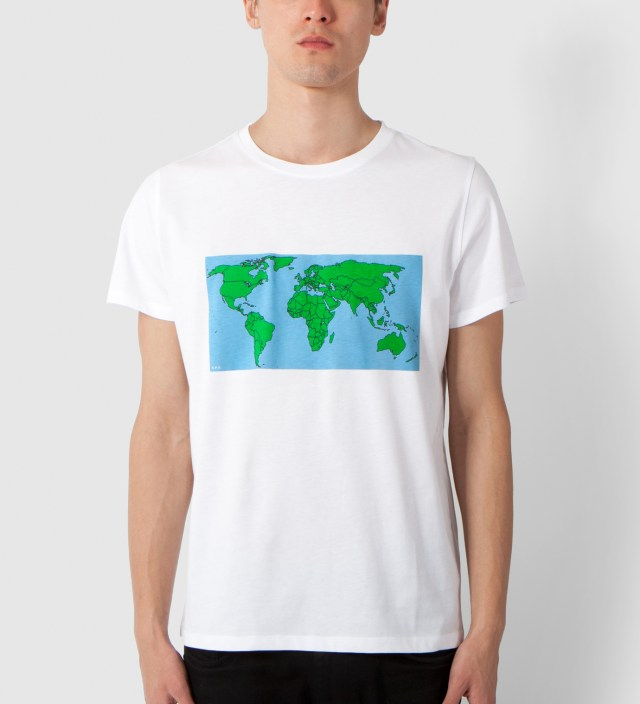 White Map T-Shirt
