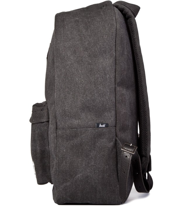 Black Woodlands Canvas Backpack