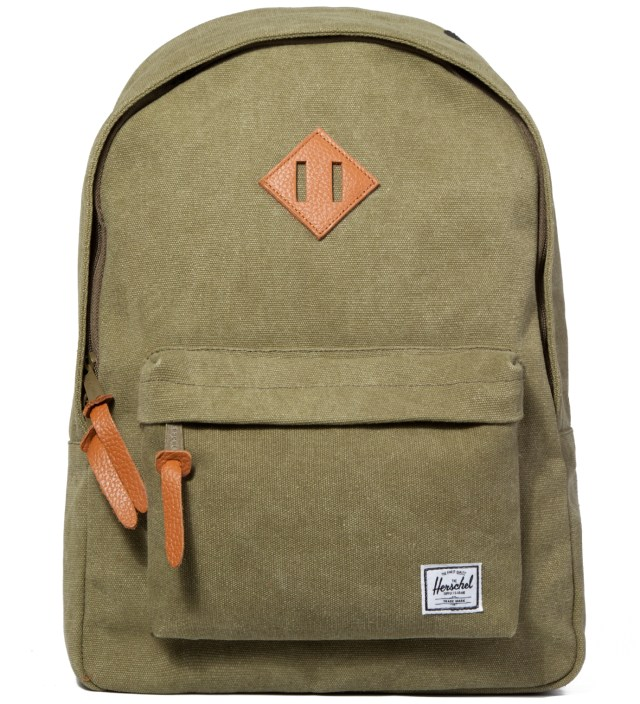 Washed Army Woodlands Canvas Backpack
