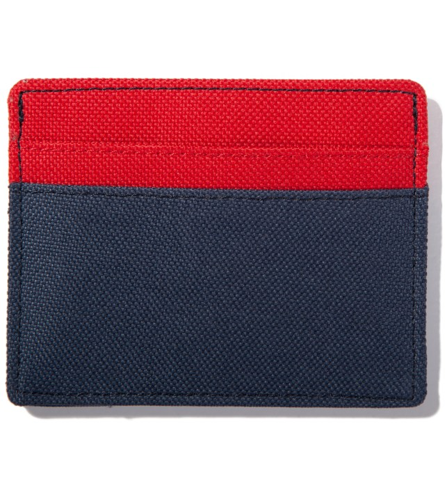 Red/Navy Charlie Card Case