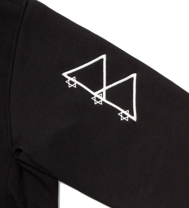 Black Logotype Zip Hoodie