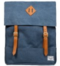 Washed Navy Survey Canvas Backpack